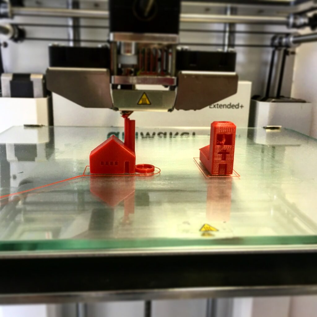 3D printing of a small, simple object